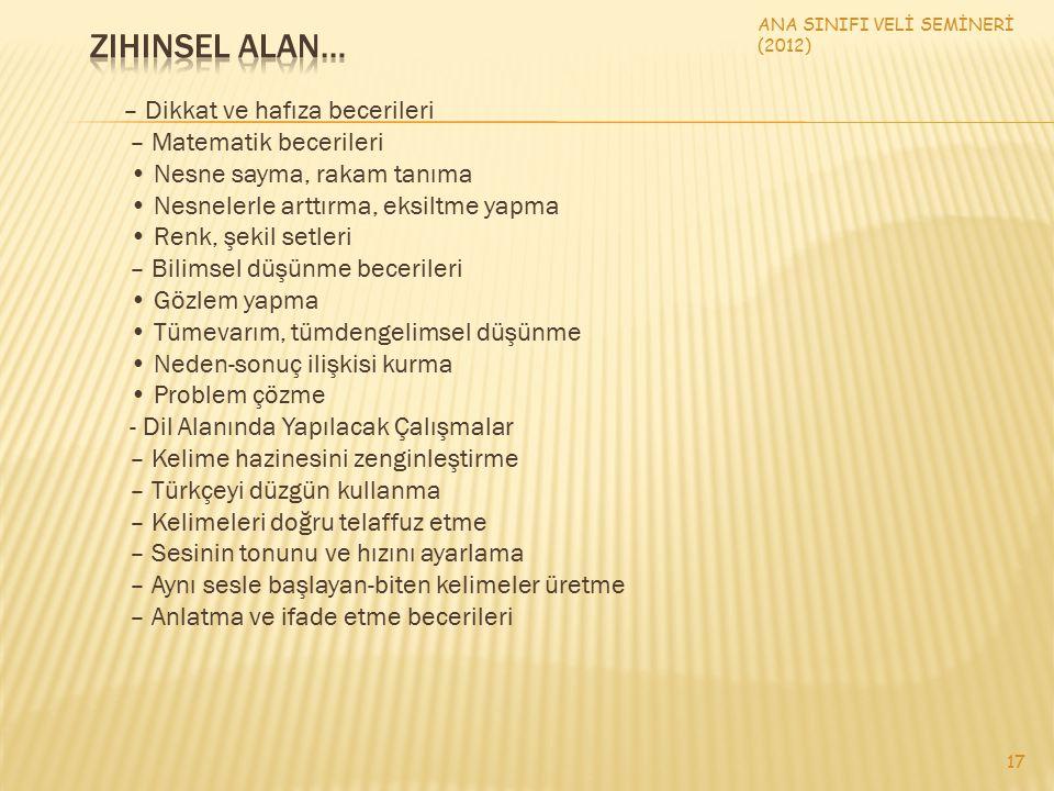 ANA SINIFI VELİ SEMİNERİ (2012)