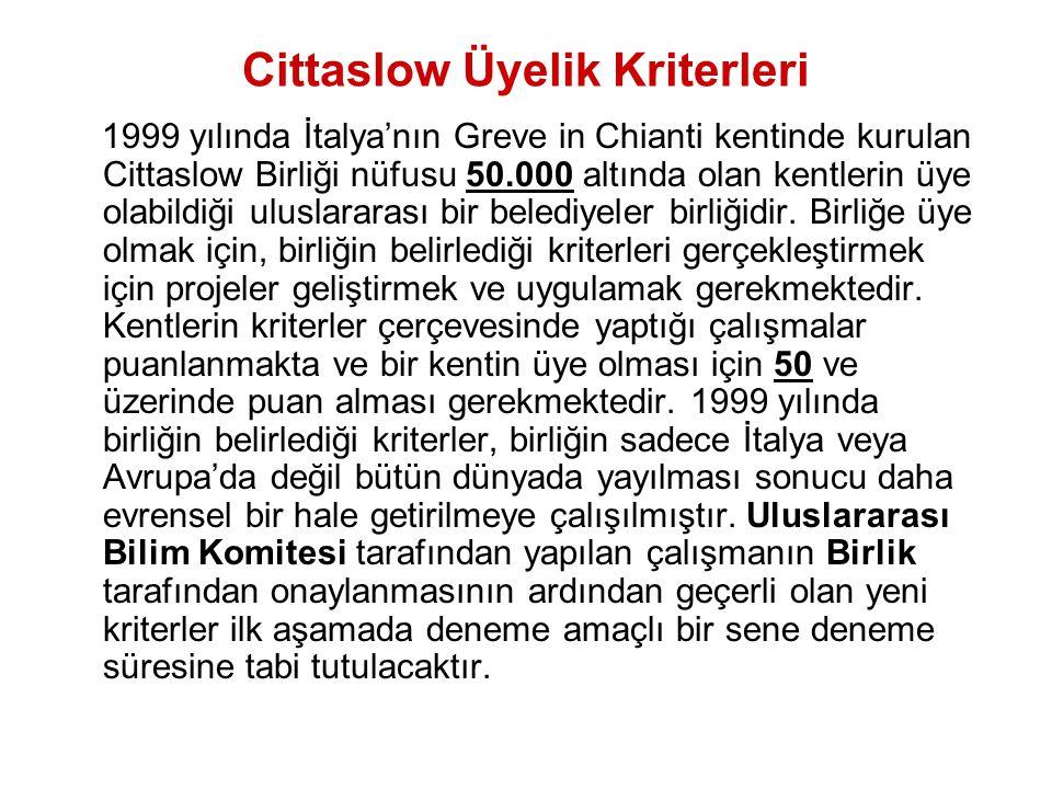Cittaslow Üyelik Kriterleri