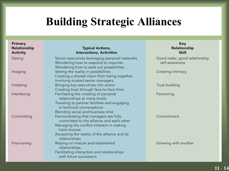 Building Strategic Alliances