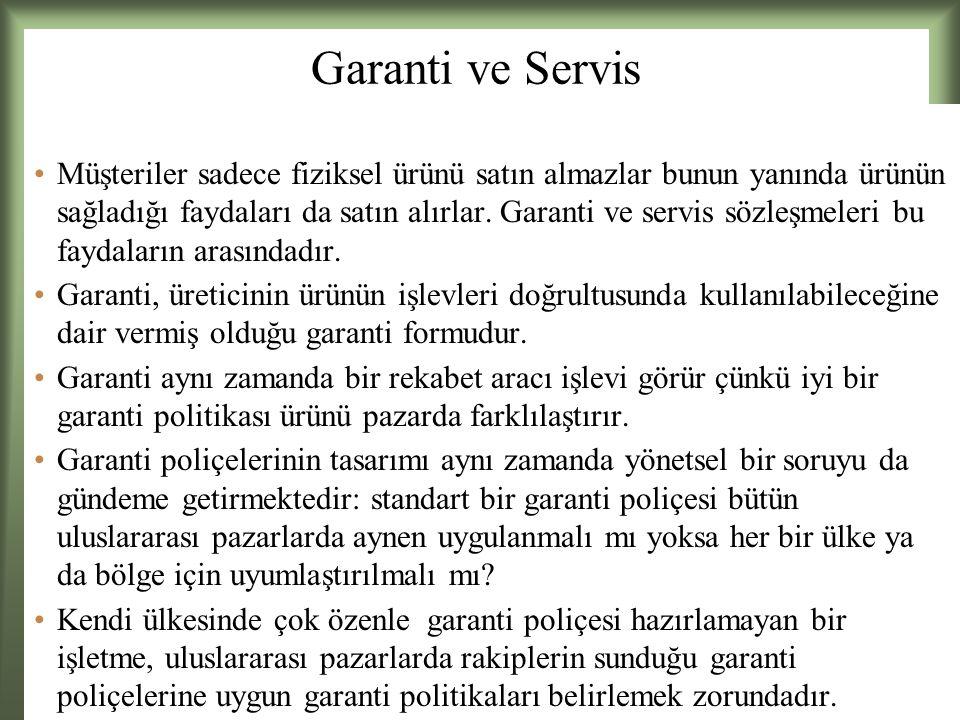 Garanti ve Servis