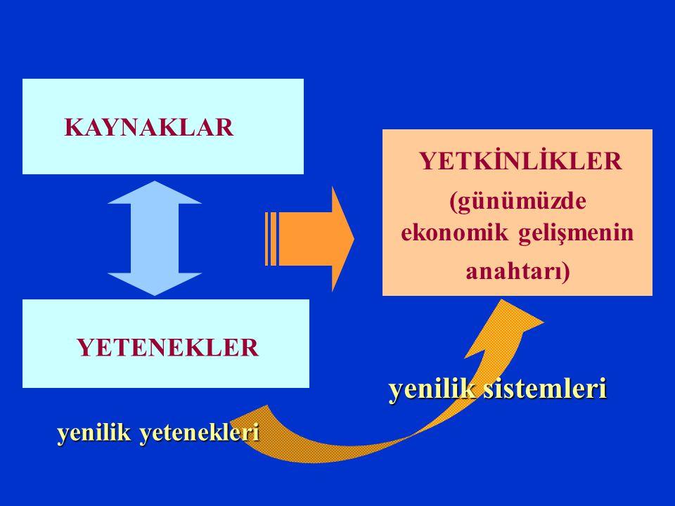(günümüzde ekonomik gelişmenin