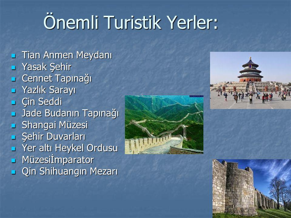 Önemli Turistik Yerler: