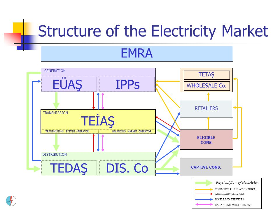 Structure of the Electricity Market