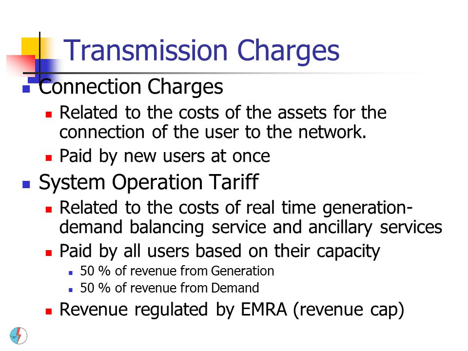 Transmission Charges Connection Charges System Operation Tariff