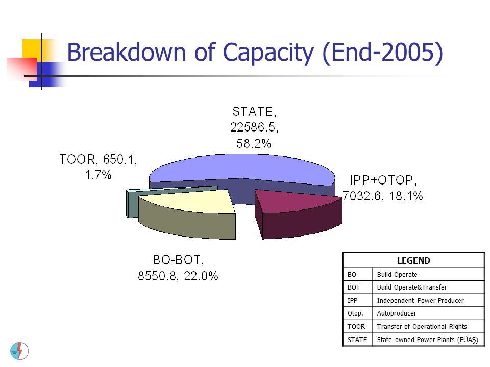Breakdown of Capacity (End-2005)