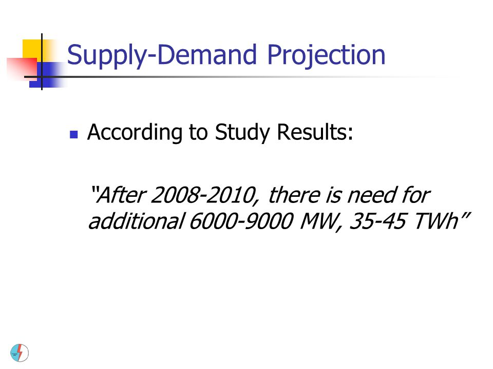Supply-Demand Projection