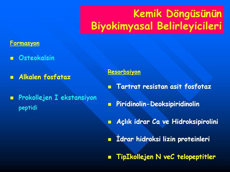 Kemik Döngüsünün Biyokimyasal Belirleyicileri