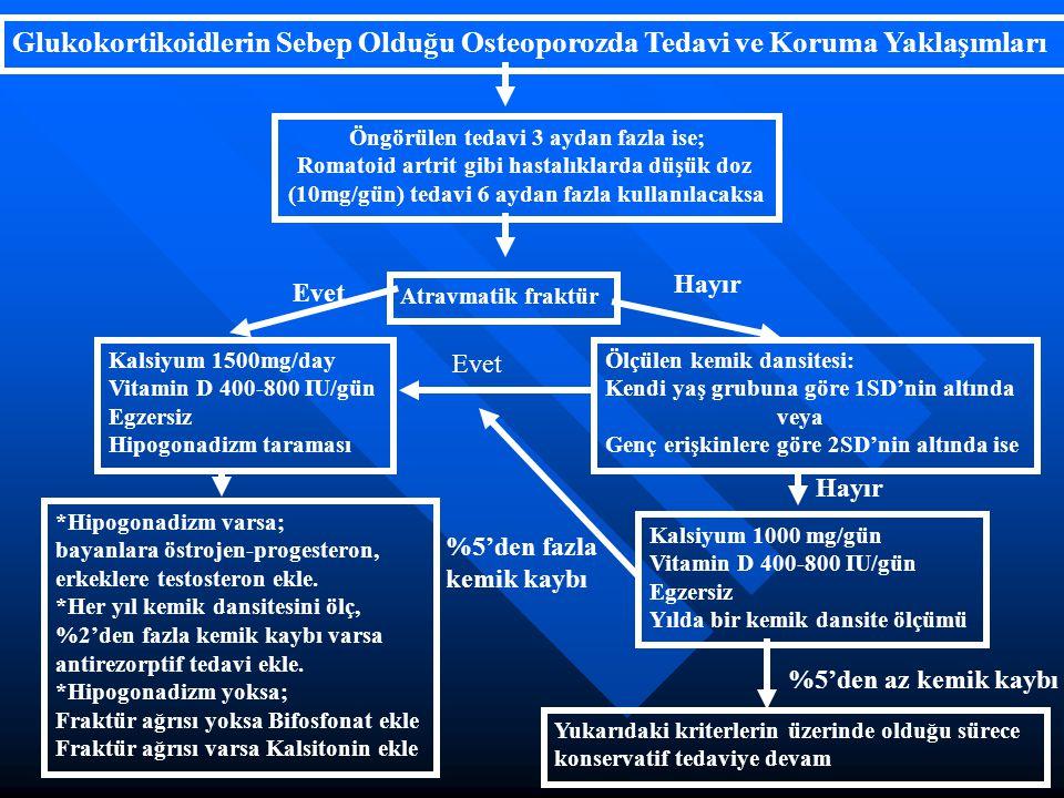 Glukokortikoidlerin Sebep Olduğu Osteoporozda Tedavi ve Koruma Yaklaşımları