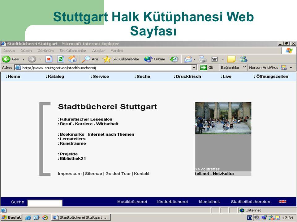 Stuttgart Halk Kütüphanesi Web Sayfası