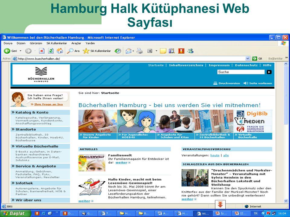 Hamburg Halk Kütüphanesi Web Sayfası