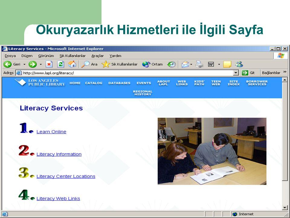Okuryazarlık Hizmetleri ile İlgili Sayfa