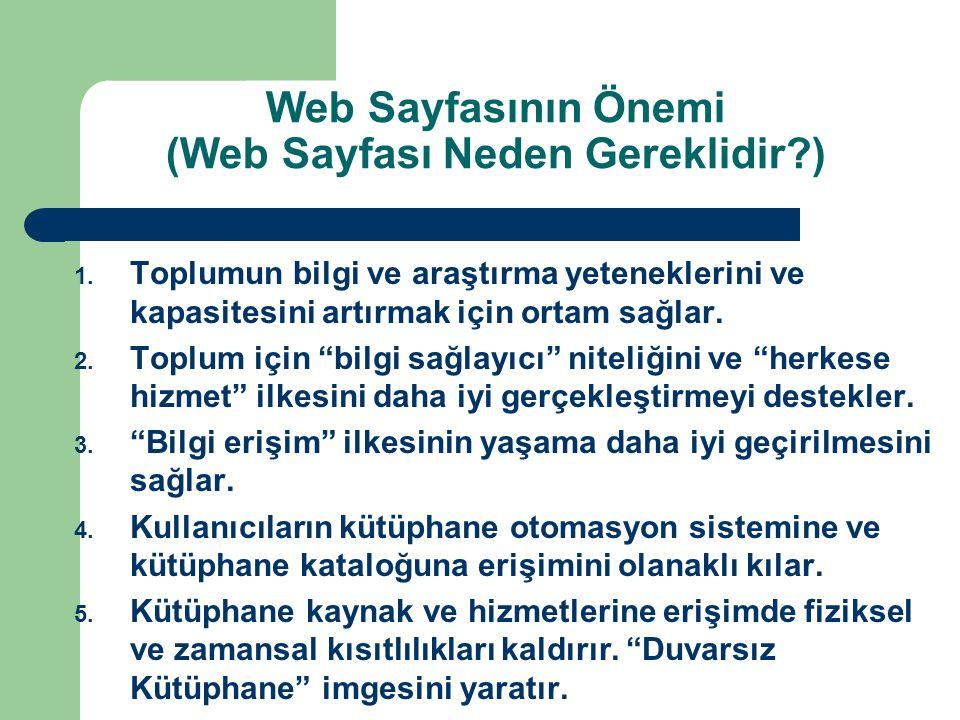 Web Sayfasının Önemi (Web Sayfası Neden Gereklidir )