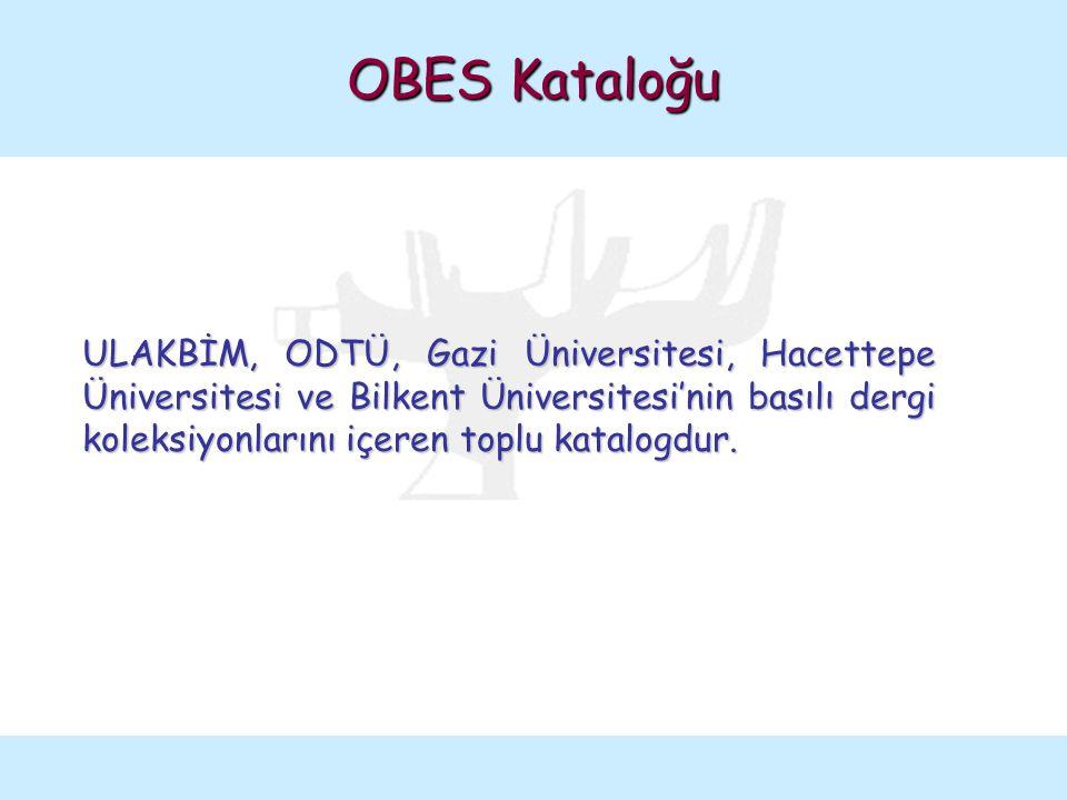 OBES Katalog Taraması Interlibrary Loan başlığı seçilir.