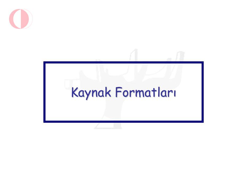 Tarama sonucunda kaynağa değişik formatlarda erişebilirsiniz.
