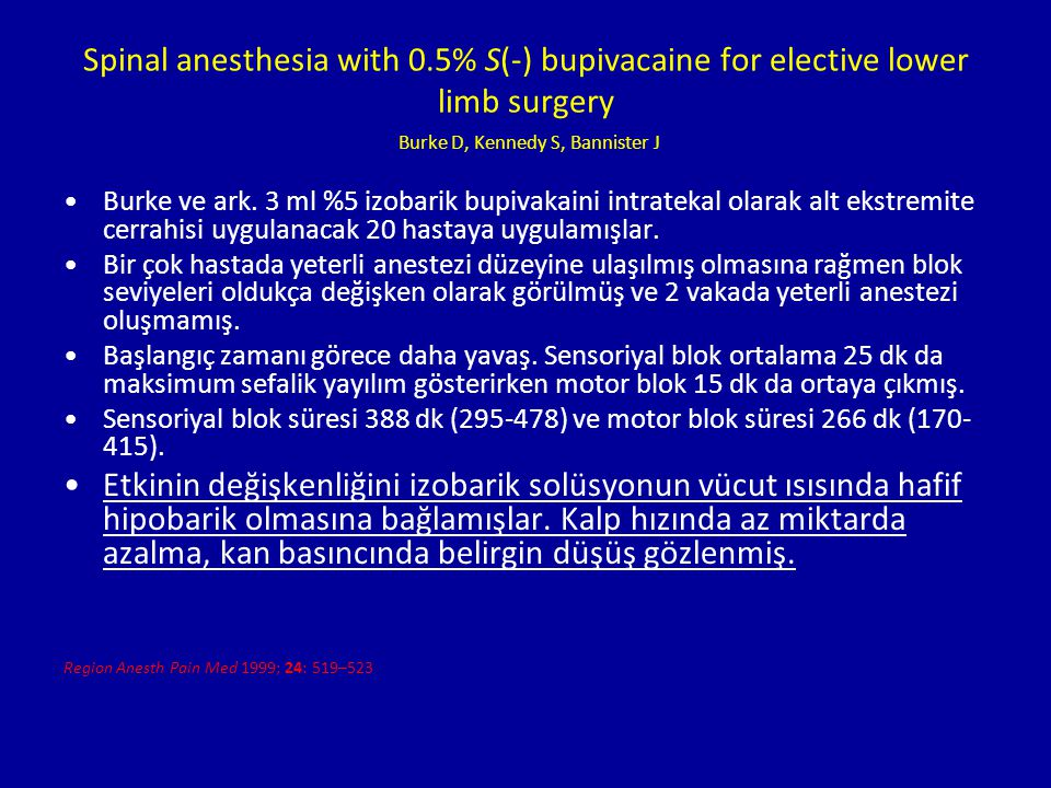 Spinal anesthesia with 0