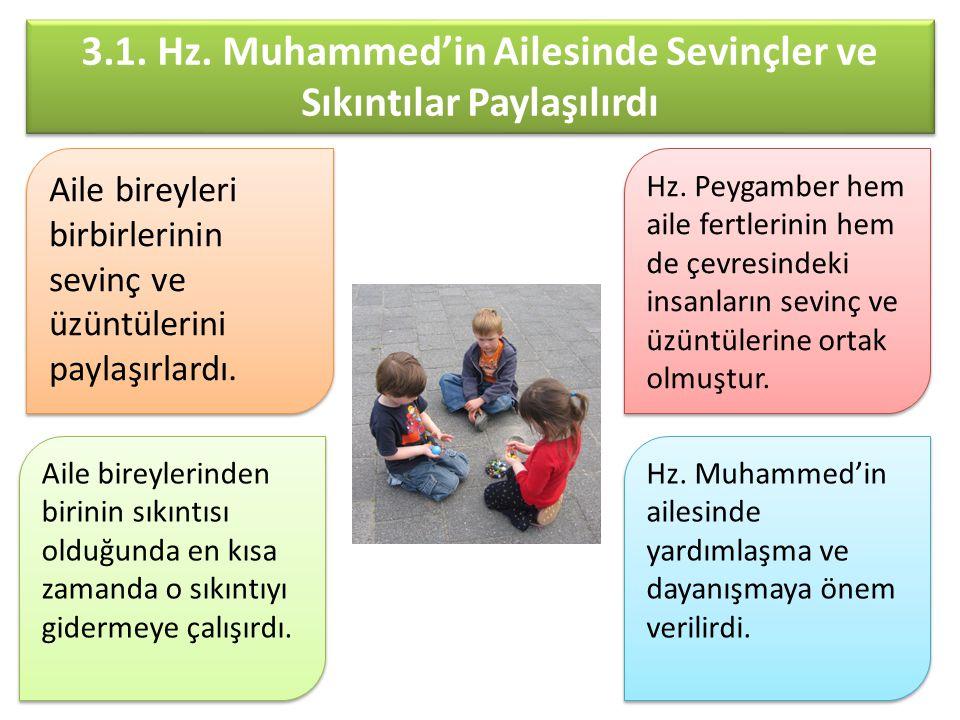 3.1. Hz. Muhammed'in Ailesinde Sevinçler ve Sıkıntılar Paylaşılırdı