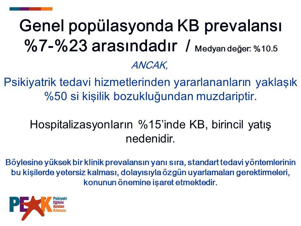 Hospitalizasyonların %15'inde KB, birincil yatış nedenidir.