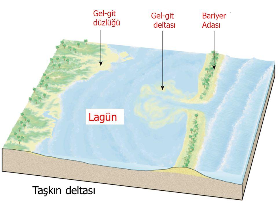Gel-git düzlüğü Gel-git deltası Bariyer Adası Lagün Taşkın deltası