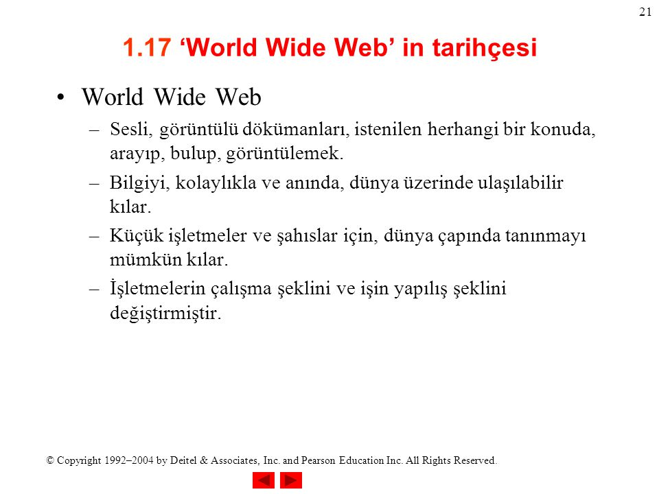 1.17 'World Wide Web' in tarihçesi