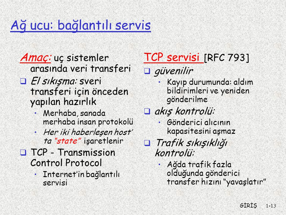 Ağ ucu: bağlantılı servis