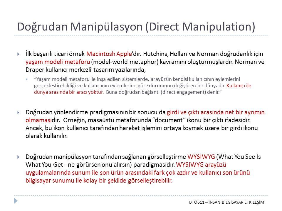 Doğrudan Manipülasyon (Direct Manipulation)