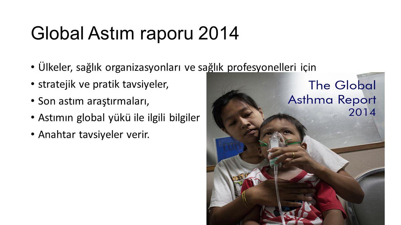 Global Astım raporu 2014 Ülkeler, sağlık organizasyonları ve sağlık profesyonelleri için. stratejik ve pratik tavsiyeler,