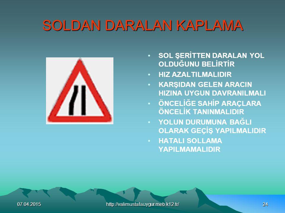SOLDAN DARALAN KAPLAMA