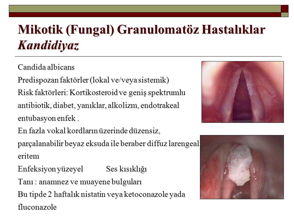 Mikotik (Fungal) Granulomatöz Hastalıklar Kandidiyaz