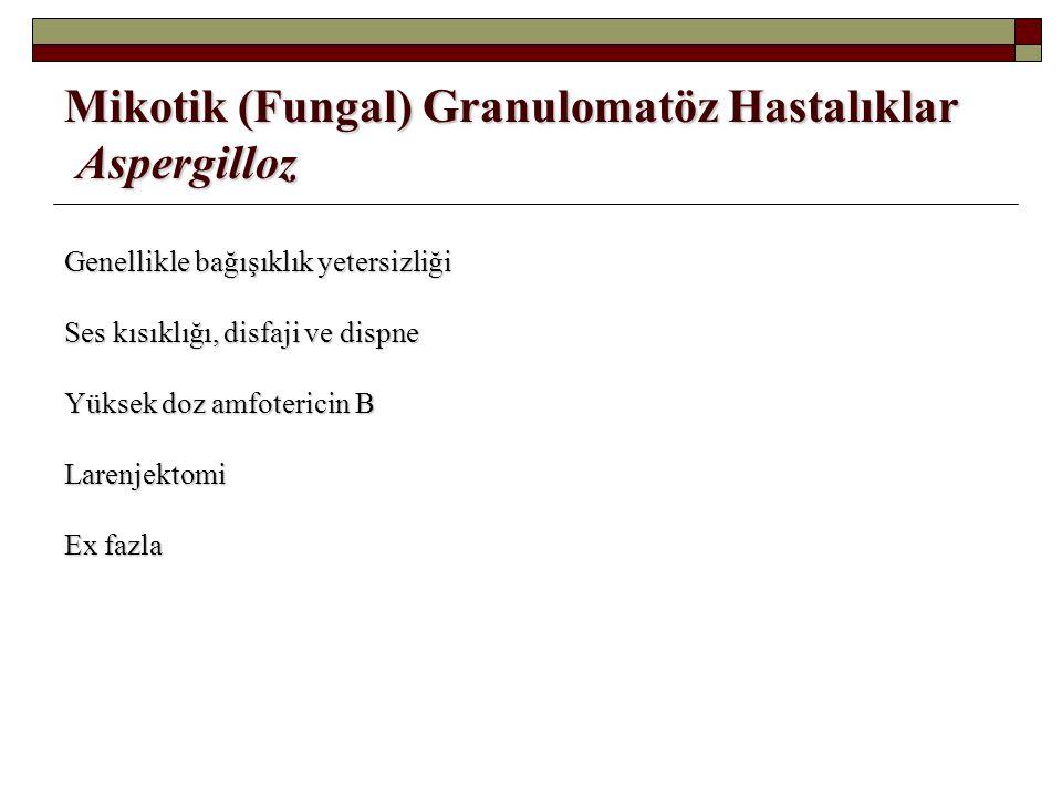 Mikotik (Fungal) Granulomatöz Hastalıklar Aspergilloz