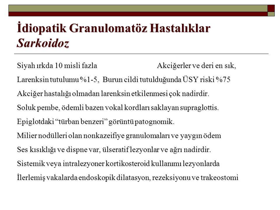 İdiopatik Granulomatöz Hastalıklar Sarkoidoz