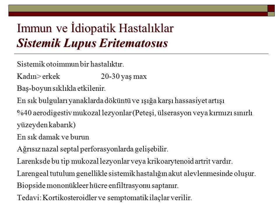 Immun ve İdiopatik Hastalıklar Sistemik Lupus Eritematosus