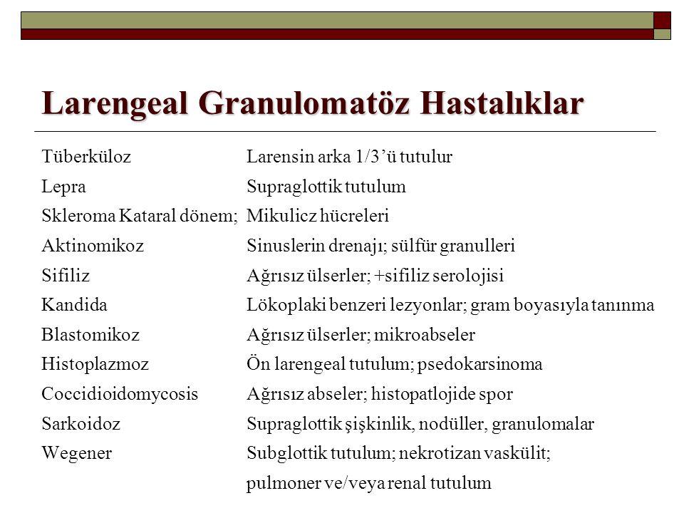 Larengeal Granulomatöz Hastalıklar