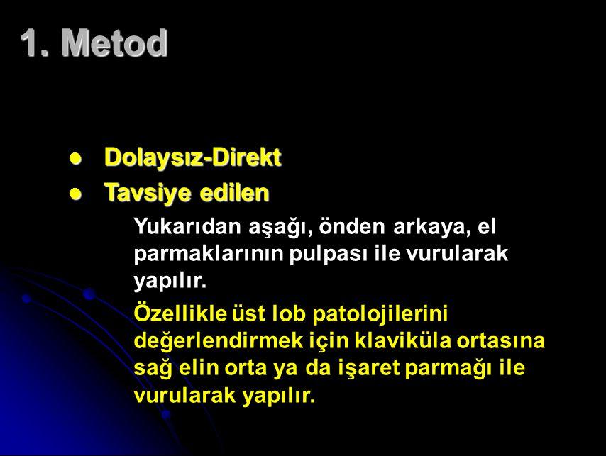 1. Metod Dolaysız-Direkt Tavsiye edilen