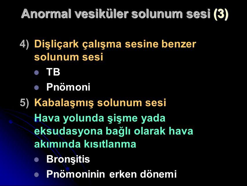 Anormal vesiküler solunum sesi (3)