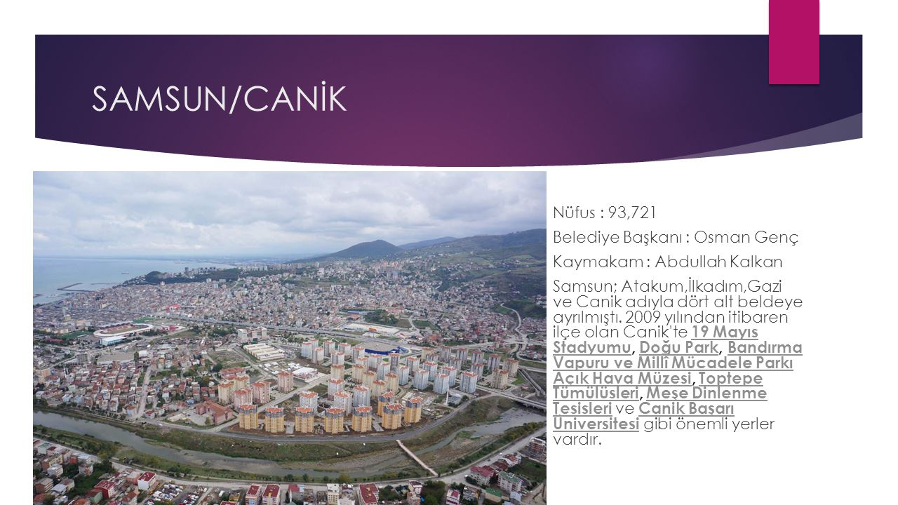 SAMSUN/CANİK