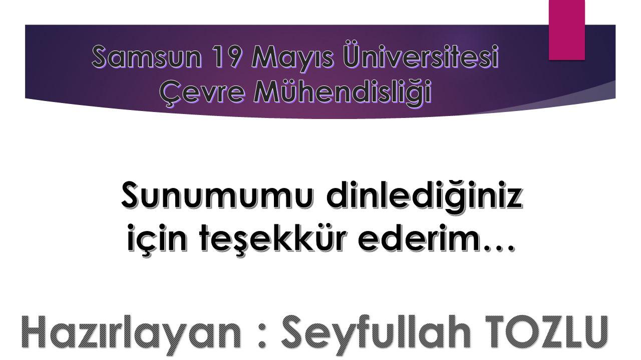 Hazırlayan : Seyfullah TOZLU