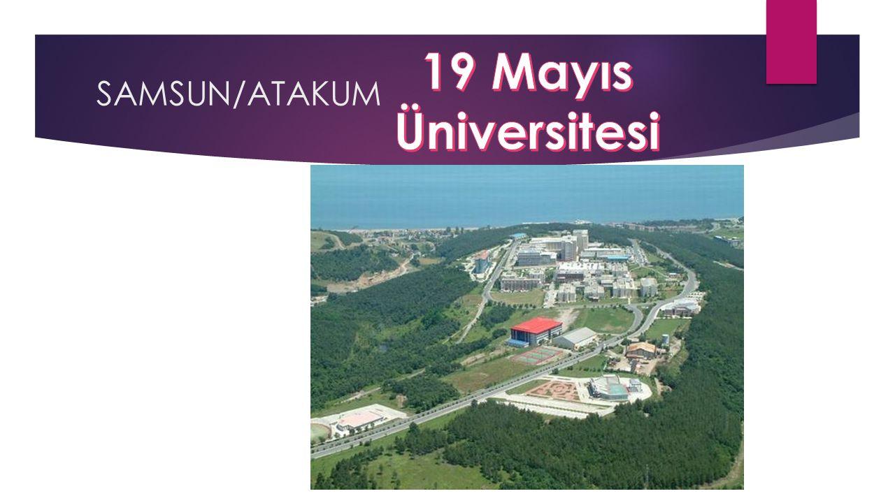 19 Mayıs Üniversitesi SAMSUN/ATAKUM