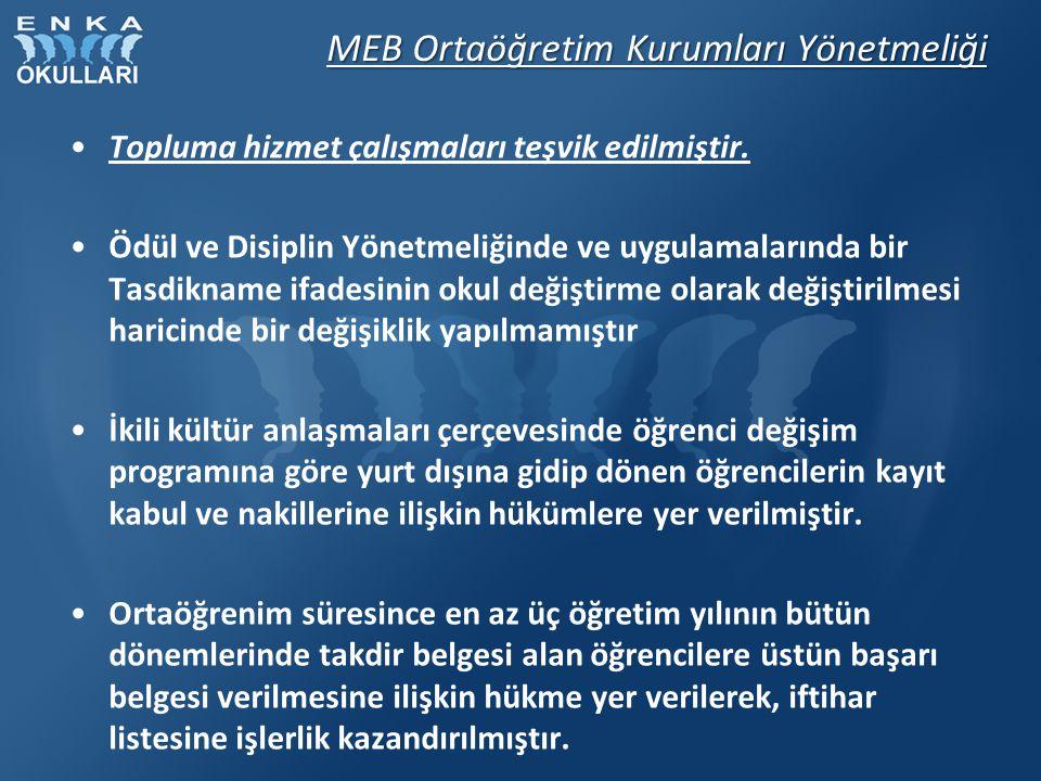 MEB Ortaöğretim Kurumları Yönetmeliği