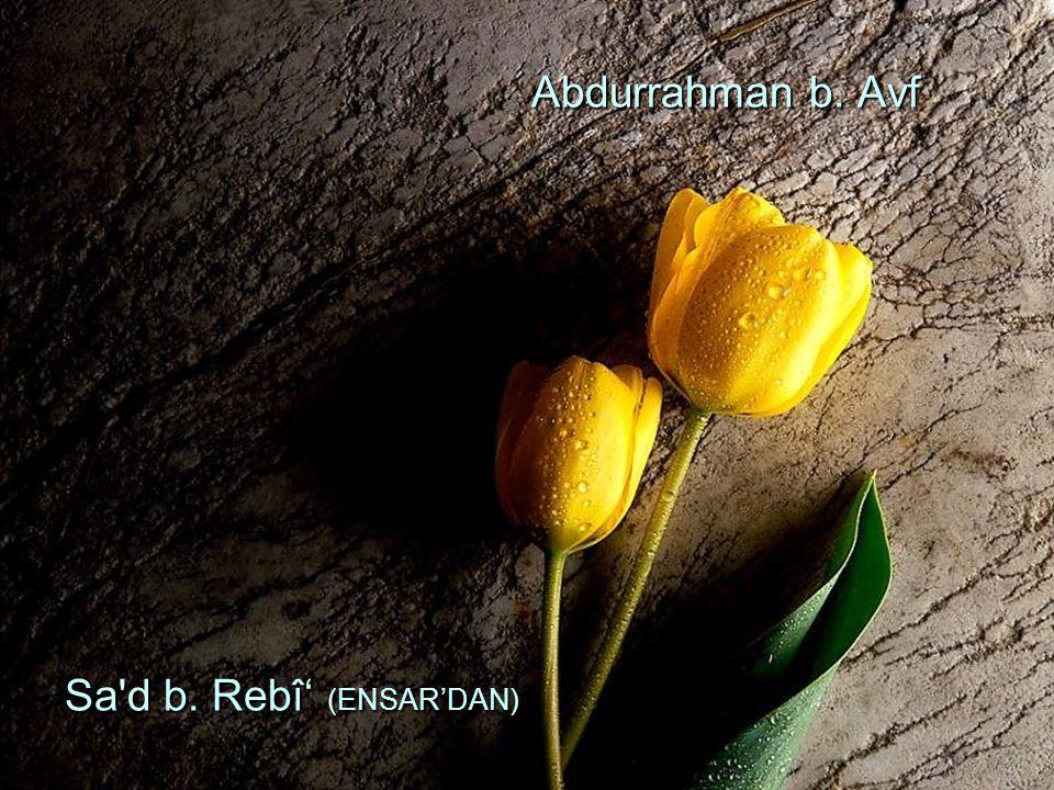 Abdurrahman b. Avf Sa d b. Rebî' (ENSAR'DAN)