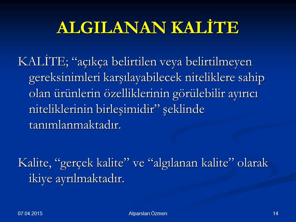 ALGILANAN KALİTE