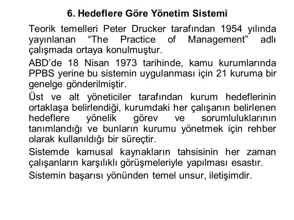 6. Hedeflere Göre Yönetim Sistemi