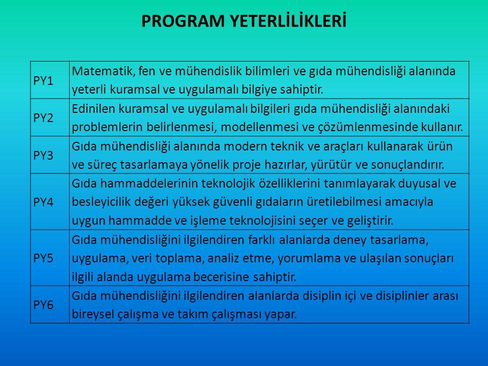 PROGRAM YETERLİLİKLERİ