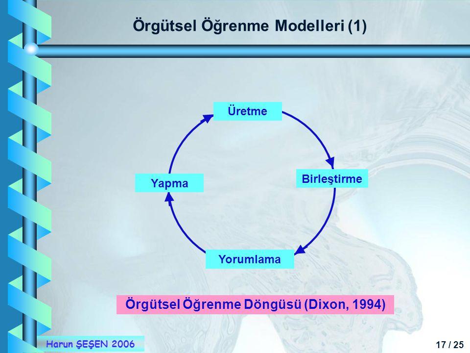 Örgütsel Öğrenme Modelleri (1)