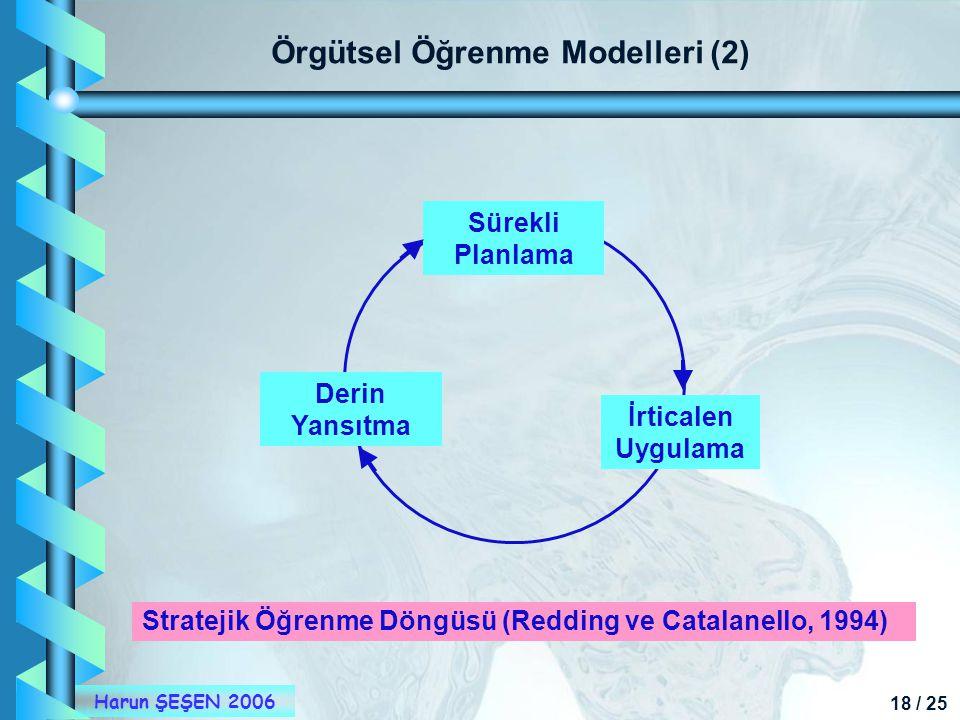 Örgütsel Öğrenme Modelleri (2)