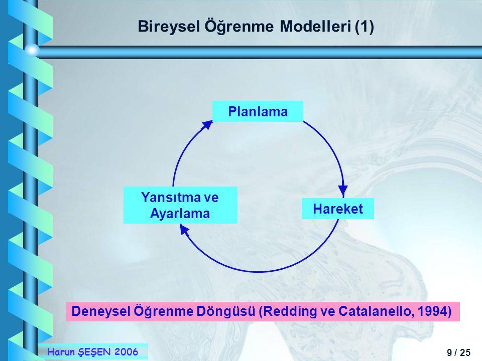 Bireysel Öğrenme Modelleri (1)