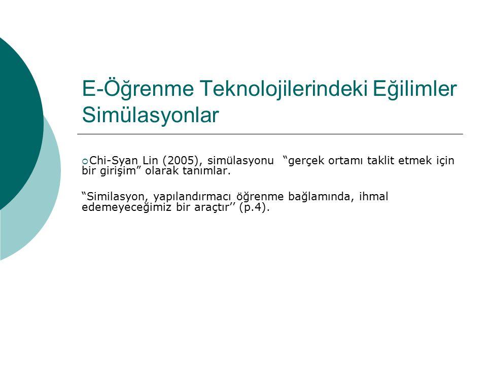 E-Öğrenme Teknolojilerindeki Eğilimler Simülasyonlar