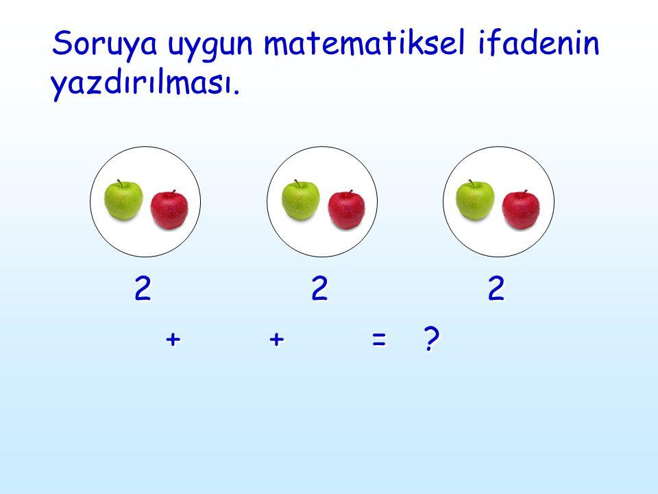 Soruya uygun matematiksel ifadenin yazdırılması.