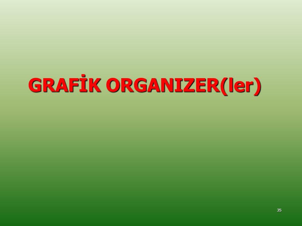GRAFİK ORGANIZER(ler)
