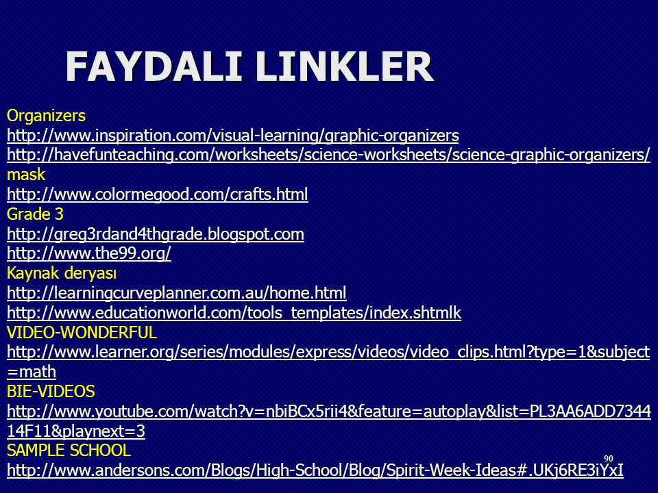FAYDALI LINKLER Organizers