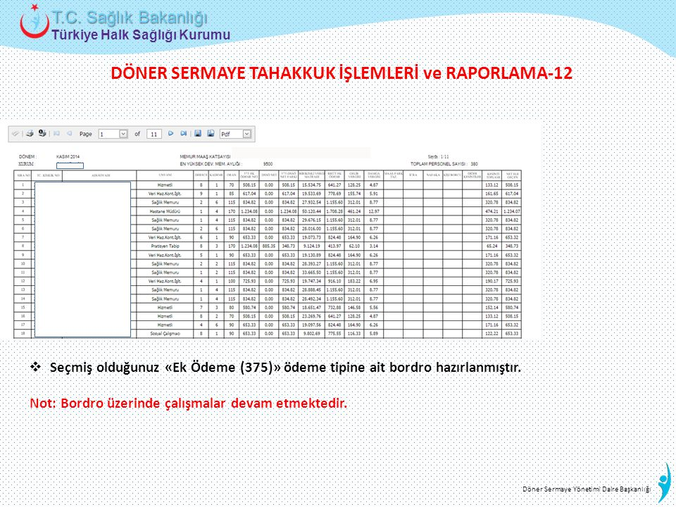 DÖNER SERMAYE TAHAKKUK İŞLEMLERİ ve RAPORLAMA-12
